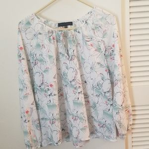 Sanctuary abstract floral blouse
